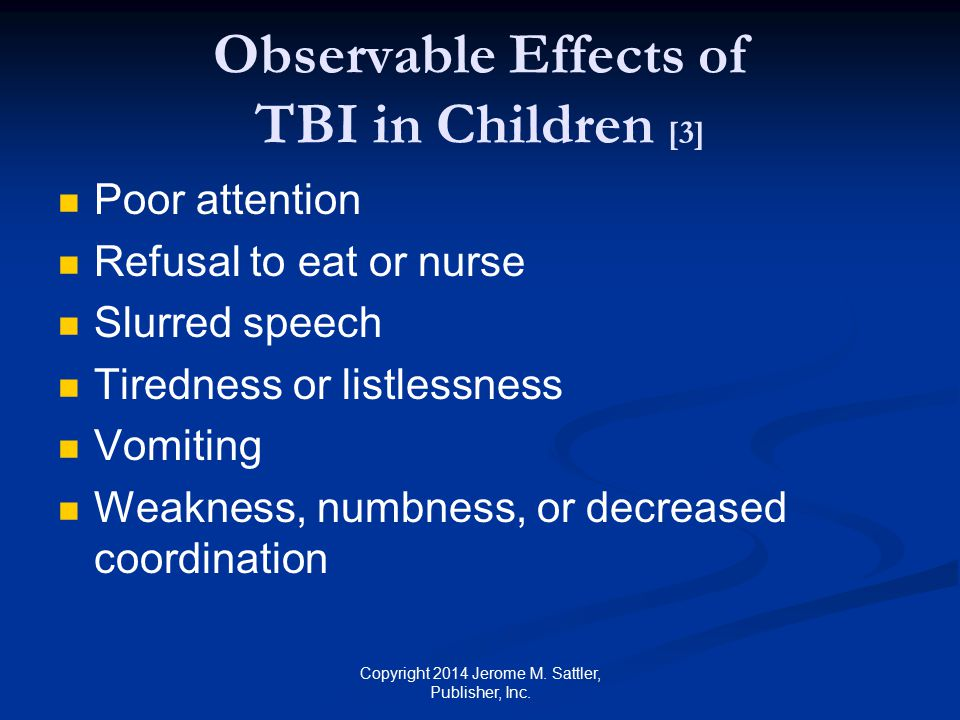 Observable Effects of TBI in Children [3]